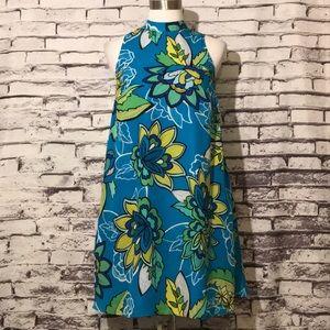 Blue Flower Sleeveless Dress